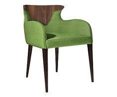 X8 chairs Fauteuil CROSS WALNUT, vert et naturel - L62
