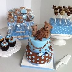 Teddy and family dessert table