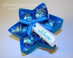 Qbee's Quest: Hershey's Kisses Star Tutorial (6-point) http://qbeesquest.blogspot.ca/2013/07/hersheys-kisses-star-tutorial-6-point.html?spref=pi
