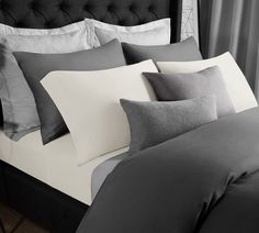 Super bedroom bedding collection, Cotton Rich T-shirt soft modal jersey sheet set - All season bed sheets, Super comfortable, Warm and cozy modal sheet (King, White). Get a sounding sleep. Best Bedding Sets, Luxury Bedding Sets, Percale Sheets, Bed Sheets, Best Sheet Sets, Cheap Bed Linen, Blue Comforter, Black Bedding, King Comforter