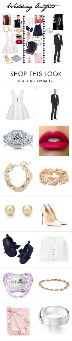 """Wedding Outfits"" by grosa774 ❤ liked on Polyvore featuring Express, BERRICLE, Erickson Beamon, Susan Caplan Vintage, Christian Louboutin, Carter's, Roberto Marroni, Baby Aspen and Star Wedding Rings"