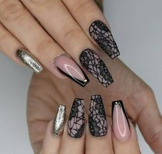 Lace is a classic design element in modern fashion. Today we are here to share and discuss the concept of lace nail art design. Today, lace nail art design is very popular. Many women are fascinated by complex and detailed fabric patterns. Lace Nail Design, Lace Nail Art, Wedding Nails Design, Sexy Nail Art, Bling Nails, Lace Nails, Fishnet Nails, Beautiful Nail Art, Gorgeous Nails