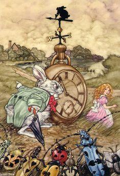 Alice in Wonderland | illustration by Angel Dominguez