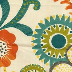 P Kaufman Mambo floral fabric for the drapes