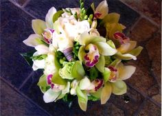 Calypso Flowers -Cymbidium 'butterflies' posy