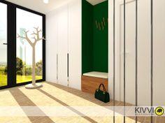 Návrh interiéru chodby. Interiérový dizajn od Kivvi architects_Corridor interior www.kivvi.sk Divider, Interior Design, Room, Furniture, Home Decor, Nest Design, Bedroom, Decoration Home, Home Interior Design