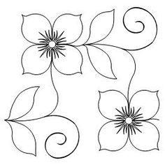 Ideas Machine Quilting Designs Flower For 2019 Hand Embroidery Patterns, Applique Patterns, Flower Patterns, Embroidery Stitches, Quilt Patterns, Embroidery Designs, Pattern Design Drawing, Quilting Stencils, Machine Quilting Designs