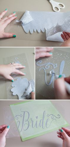 How to make an iron-on glitter decal using the Cricut Explore, with free cut files!