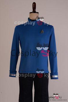 Star Trek Beyond Bones Science Officer Uniform Blue Shirt Cosplay Costume, made in your own measurements.
