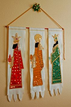 Tina and Mike's Holiday Home : three kings banner 12 Days Of Christmas, Christmas Art, Christmas Projects, Christmas Decorations, King Craft, We Three Kings, Diy Crafts To Do, Three Wise Men, Church Banners