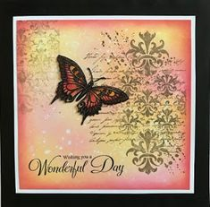 Sandma's Handmade Cards: Crafty Individuals and Inkylicious Butterfly Artwork, Butterfly Cards, Inkylicious Cards, Lavinia Stamps Cards, Mixed Media Cards, Creative Cards, Cardmaking, Birthday Cards, Handmade Cards