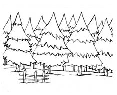 pine trees coloring pages - Google Search
