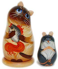 Mr Puddy Zone: Cat Matryoshka ( Cat Nesting Dolls )