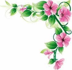 Pin by slgudiel on wallpapers and more pinterest art floral flower border clipart free flower clipart flower art flower frame clip art mightylinksfo