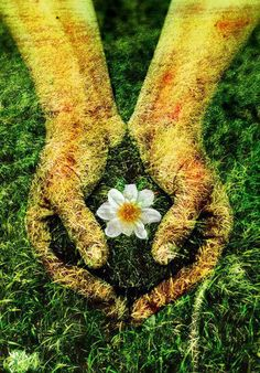 Nature Composting ✨Mother Earth✨ This image honors the inner and outer beauty, the totality of… - Gaia, Mother Earth, Mother Nature, Namaste, Earth Day, Amazing Nature, Magick, Flower Power, Environment