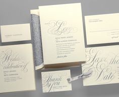 Kleinfeld Paper || Young Love Wedding Invitation Suite. Customize yours with Paper Passionista.