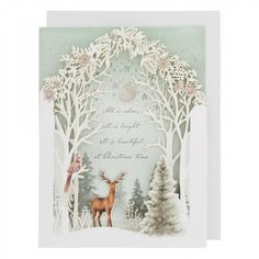 Deer and tree theatre Christmas card