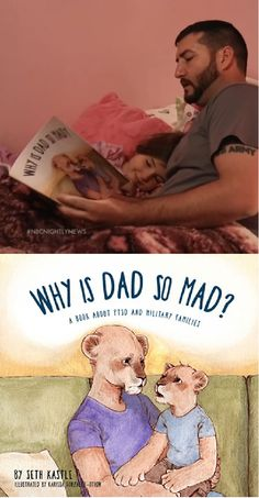 Seth Kastle struggled to explain his PTSD to his children, so he wrote a book he hopes can help other military families. Daughter Videos, Love Parents, Mad Father, Army Reserve, Nbc Nightly News, Wife And Kids, Post Traumatic, Ptsd, My Dad