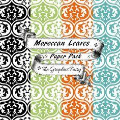 Free Scrapbook Paper Moroccan Leaves