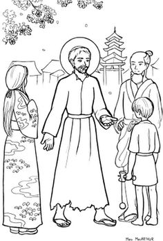 for the Liturgical year subscription. Sketches and Subcreations: St. Francis Xavier coloring page - first of Entire Liturgical Year Coloring Book Catholic Crafts, Catholic Kids, Catholic Saints, Catholic Homeschooling, Coloring Pages For Kids, Coloring Sheets, Coloring Books, Francis Xavier, St Francis