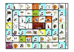 Joc de l'oca musical. Té totes les caselles del joc original, però adaptades a termes musicals. Music Education, Humor, Games, Santorini, Kids Songs, Music Ed, Flute, School, Elementary Music