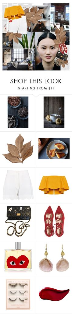 """""""Nothing last forever, this is why we have to enjoy the moment."""" by floralbeauteous ❤ liked on Polyvore featuring Bliss Studio, Boohoo, Chanel, Comme des Garçons and Kat Von D"""