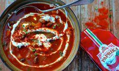 Pinto bean Goulash soup