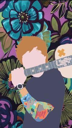 Floral Ed Sheeran Wallpaper