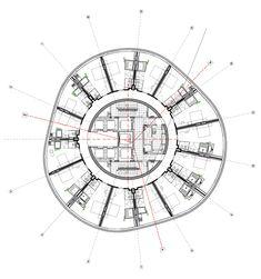Hotel Fire, Toyo Ito Circular Hotel Core Plan