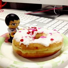 HD Alex indulging in National Donut Day.