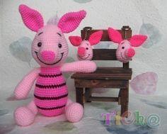 Piglet crochet pattern.