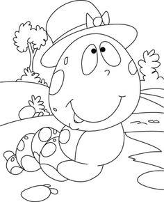 Caterpillar Coloring Pictures - Caterpillar cartoon coloring pages Insect Coloring Pages, Cute Coloring Pages, Christmas Coloring Pages, Adult Coloring Pages, Coloring Pages For Kids, Coloring Sheets, Coloring Books, Mandala Coloring, Art Drawings For Kids