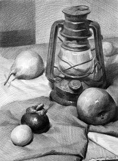 Emily gordon adlı kullanıcının still life panosundaki pin çizim fikirleri, Shading Drawing, Pencil Sketch Drawing, Basic Drawing, Pencil Art Drawings, Art Drawings Sketches, Painting & Drawing, Drawing Ideas, Charcoal Drawing, Still Life Sketch