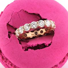 Mark Broumand - 3.90ct Round Brilliant Cut Diamond Eternity Band in 18k ...