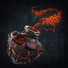 ArtStation - Bottle of Dark Magic, Marina Ovchinnikova Magic Bottles, Game Props, My Doodle, Sculpting, Fantasy, Dark, Poisons, Artwork, Anton