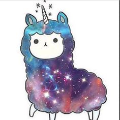 Why do people love alpacas? Because they're adorable, and they have an amazing natural fleece that can be harvested and used for a lot of different things. Alpacas, Llama Pictures, Cute Pictures, Cute Unicorn, Unicorn Party, Kawaii Drawings, Cute Drawings, Alpaca Drawing, Rainbow Galaxy