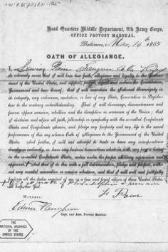 Oath of Allegiance document signed by Lewis Powell