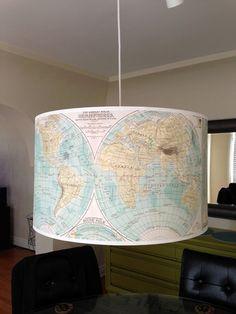 vintage map light
