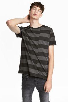 T-shirt w paski - Ciemnoszary/Czarne paski - ON | H&M PL 1