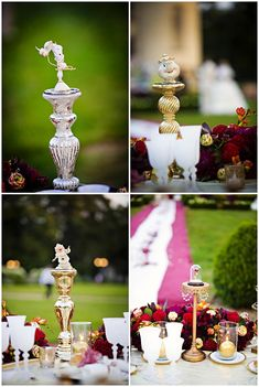 Beauty and the beast centerpieces[ BookingEntertainment.com ] #wedding #events #entertainment