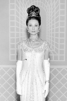 Audrey Hepburn photographed by Cecil Beaton for the film 'My Fair Lady', 1964.