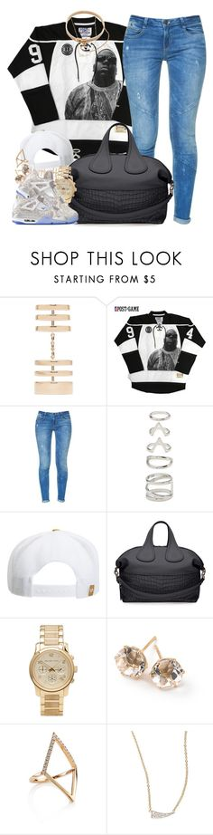 """""""Laser"""" by oh-aurora ❤ liked on Polyvore featuring Repossi, Zara, Forever 21, RVCA, Givenchy, Michael Kors, Jordan Brand, Ippolita, Geoffrey's and Kacey K Fine Jewelry"""