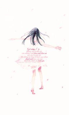 5cm/s không chỉ là vận tốc của những cánh hoa anh đào rơi, mà còn là vận tốc khi chúng ta lặng lẽ bước qua nhau, đánh mất bao cảm xúc thiết tha nhất của tình yêu ____________ · Nguồn:5 Centimet trên giây- Shinkai Makoto · Des by #colin