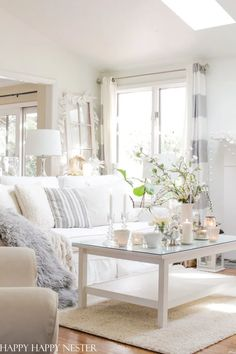 Is your after Christmas decor in need of some Winter Decorating Ideas? I hear you since I recently cleared out all the holiday decorations and was left with an empty living room. Well, let's tackle our January winter decorating. Farmhouse Style Decorating, Decor, Winter Decor, Winter Home Decor, Diy Home Decor, Home Decor, Room, Apartment Decor, White Decor