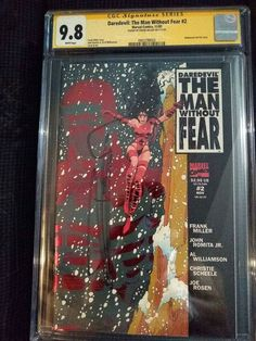 MAN WITHOUT FEAR #2 CGC SS 9.8 Signed by Frank Miller! Last Copy! John Romita Jr, 8th Sign, Frank Miller, Ss, Comics, Colour, Ebay, Color, Comic Book