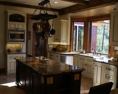 For extra space in the kitchen. Bay window and push the kitchen sink back into it.