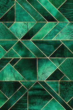 Abstract Nature - Emerald Green Framed Art Print by Elisabeth Fredriksson - Scoop White - MEDIUM Green Framed Art, Green Wall Art, Green Art, Framed Art Prints, Green Canvas Art, Green And Gold, Green Colors, Colours, Art Mural Vert