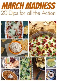 Are you ready for March Madness? If you are hosting a get together, or attending one, here are 20 delicious dip recipes to bring along with you.        Easy Creamy Onion DipChipped Beef DipHealthy …