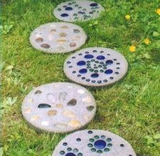 I want to make stepping stones with the kids. outdoors