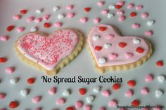 No Spread Sugar Cookies and Perfect Icing- This recipe and decorating tips are perfect for Christmas cookies or any holiday cookies including Valentine's Day
